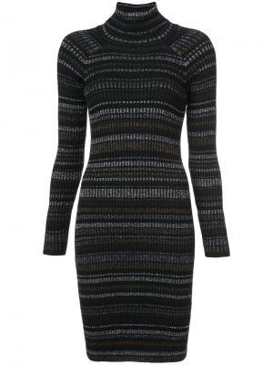 Платье-свитер в полоску Milly. Цвет: чёрный
