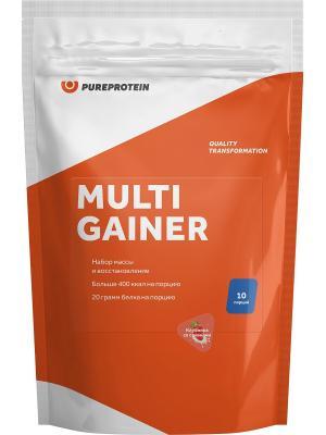 Гейнер Pure Protein Multi Gainer (Клубника со сливками) 1000 г. Цвет: оранжевый, белый
