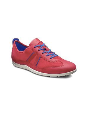 Кроссовки ECCO. Цвет: красный, голубой