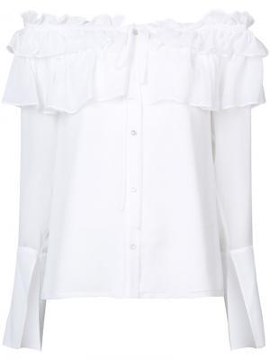 Блузка с заниженной линией плеч Opening Ceremony. Цвет: белый