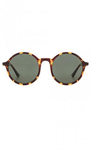 Солнцезащитные очки madison Komono. Цвет: коричневый