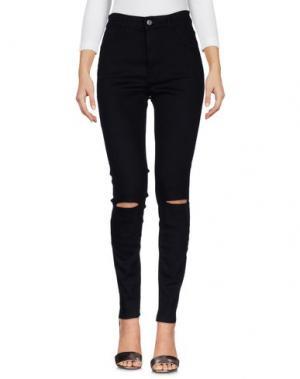 Джинсовые брюки HTC. Цвет: черный
