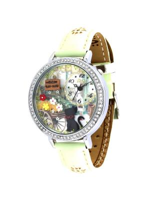 Наручные часы MN1078A Mini.. Цвет: светло-зеленый, серебристый