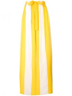 Брюки-палаццо в полоску Maison Rabih Kayrouz. Цвет: жёлтый и оранжевый