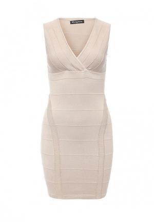 Платье Moda Corazon. Цвет: бежевый