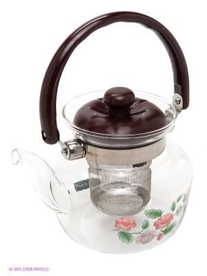 Чайник заварочный MAYER-BOCH. Цвет: прозрачный, черный