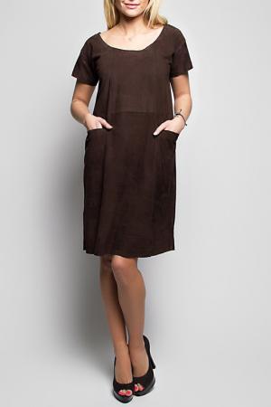 Платье Giorgio. Цвет: коричневый