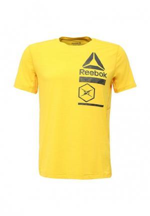 Футболка спортивная Reebok. Цвет: желтый