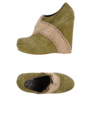 Обувь на шнурках MAURON. Цвет: зеленый
