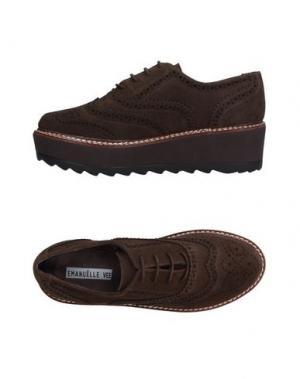 Обувь на шнурках EMANUÉLLE VEE. Цвет: какао