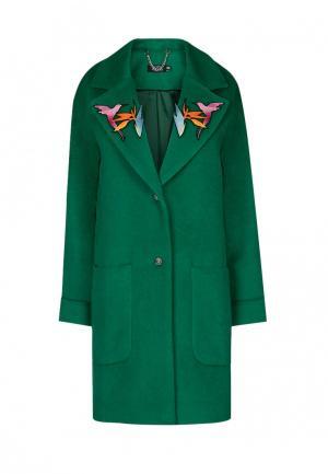 Пальто iSwag. Цвет: зеленый