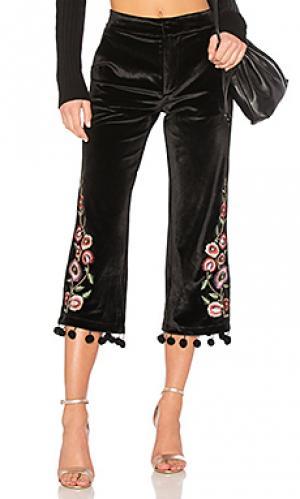 Бархатные брюки hunnington Tularosa. Цвет: черный