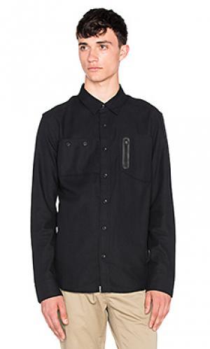 Рубашка с застёжкой на пуговицах hunter ourCASTE. Цвет: черный