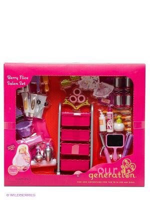 Набор парикмахерских аксессуаров для куклы OG Dolls. Цвет: розовый