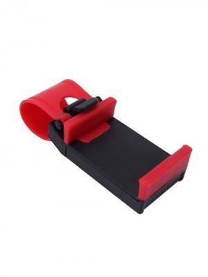 Держатель телефона автомобильный, цвет: черный. ACL0002B Оранжевый Слоник. Цвет: красный