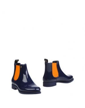 Полусапоги и высокие ботинки MÈNGHI. Цвет: синий