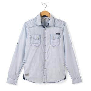 Рубашка с длинными рукавами, 10-16 лет KAPORAL 5. Цвет: небесно-голубой