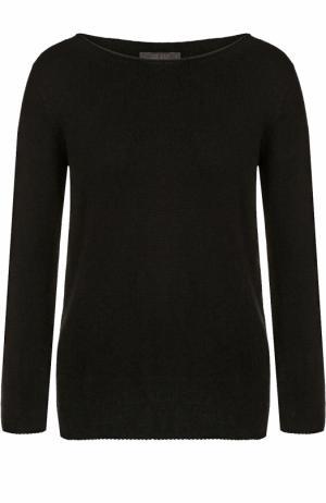 Кашемировый пуловер с вырезом-лодочка The Row. Цвет: черный