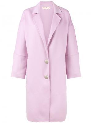 Пальто под пояс Marni. Цвет: розовый и фиолетовый