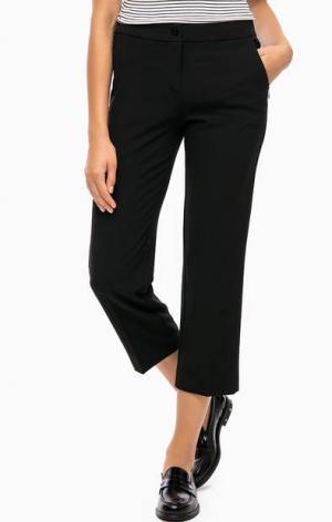 Укороченные брюки прямого кроя olsen. Цвет: черный