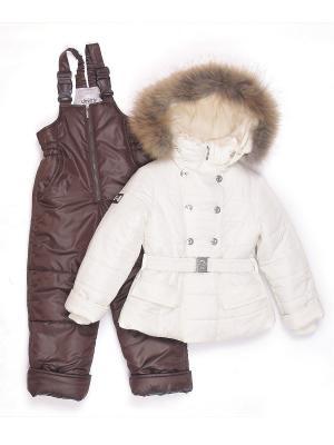 Комплект одежды для малышей Cleverly. Цвет: коричневый, молочный