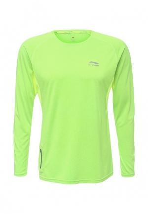 Лонгслив спортивный Li-Ning. Цвет: зеленый