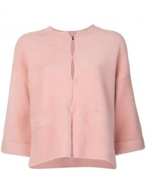 Пиджак с укороченными рукавами Twin-Set. Цвет: розовый и фиолетовый
