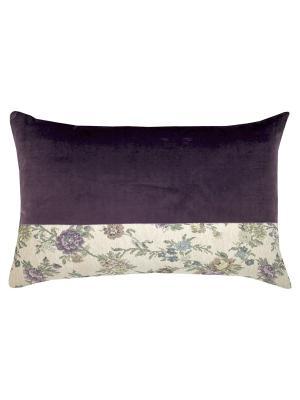 Декоративная подушка T&I. Цвет: фиолетовый, зеленый