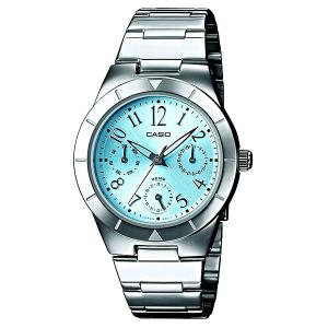 Часы  Collection Ltp-2069d-2a2 Silver/Blue Casio. Цвет: серый,голубой