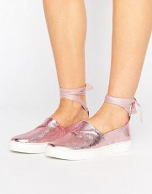 Clover Canyon Туфли с завязками вокруг голени. Цвет: розовый