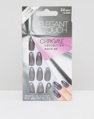 Elegant Touch Накладные ногти-коффин. Цвет: мульти