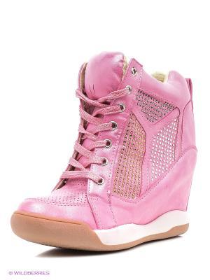 Сникеры Burlesque. Цвет: бледно-розовый, белый, розовый
