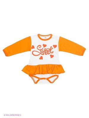 Боди Babycollection. Цвет: оранжевый, белый
