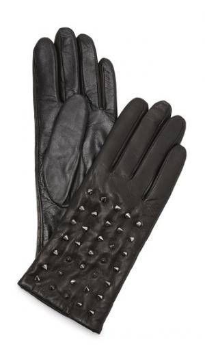 Классические кожаные перчатки с заклепками Carolina Amato