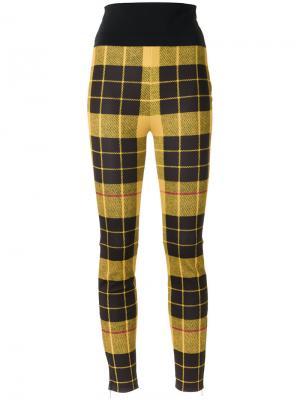 Knit skinny trousers Gloria Coelho. Цвет: жёлтый и оранжевый