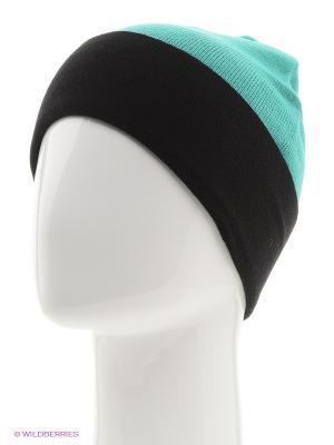 Шапка ELFRIO. Цвет: светло-зеленый, черный