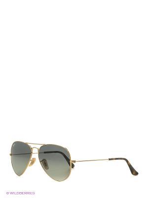 Солнцезащитные очки Ray Ban. Цвет: золотистый