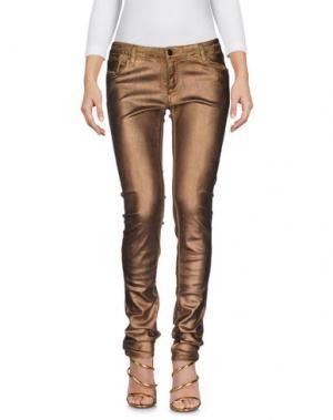 Джинсовые брюки AARCC. Цвет: бронзовый