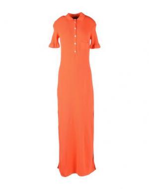 Длинное платье TENAX. Цвет: красный