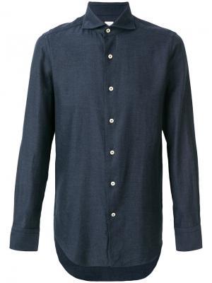 Рубашка на пуговицах Alessandro Gherardi. Цвет: синий