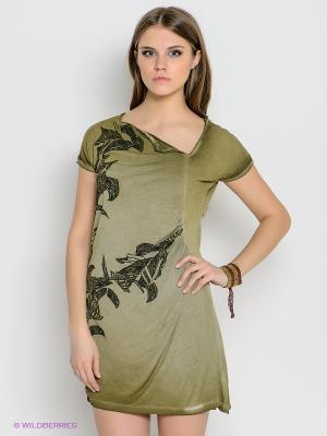 Платье Timezone. Цвет: хаки