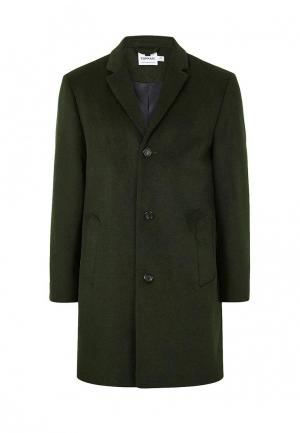 Пальто Topman. Цвет: зеленый