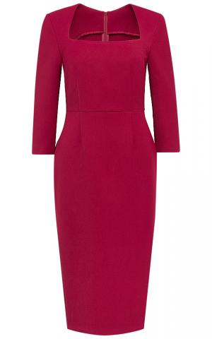 Бордовое платье с вырезом La reine blanche