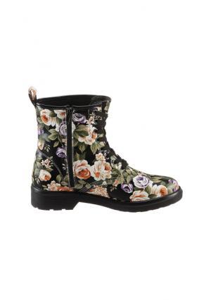 Ботинки CITY WALK. Цвет: бежевый в цветочек, белый с рисунком, черный в цветочек