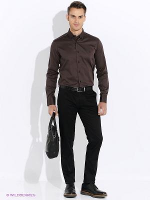 Рубашка Club21. Цвет: коричневый
