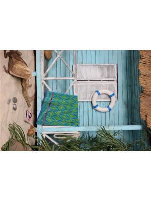 Полотенце пляжное Джакарда  90*170 цв. зеленый TOALLA. Цвет: зеленый