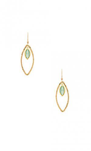 Trista earrings Mimi & Lu. Цвет: металлический золотой