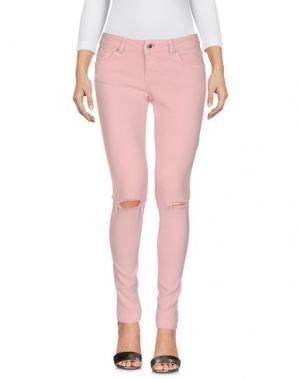 Джинсовые брюки SEVEN7. Цвет: розовый