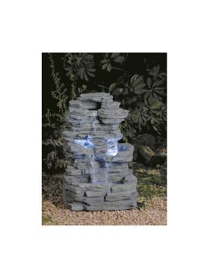 GREEN APPLE Фонтан садовый Водопад 54см. Цвет: серый