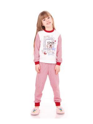 Пижама Апрель. Цвет: белый, молочный, красный